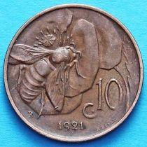Лот 20 монет. Италия 10 чентезимо 1920-1936 год.