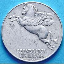 Италия 10 лир 1949-1950 год. Из обращения.