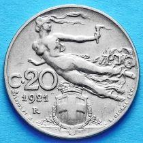 Лот 10 монет. Италия 20 чентезимо 1908-1922 год.