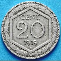 Италия 20 чентезимо 1918-1920 год. Новый тип.