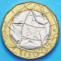 Италия 1000 лир 1998 год. Евросоюз, правильная карта