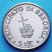 Италия. Себорга 5 чентезимо 1995 год.