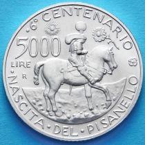 Италия 5000 лир 1995 год. Антонио Пизанелло. Серебро.