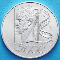 Италия 2000 лир 1998 год. Творческий разум. Серебро.