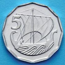 Лот 10 монет. Кипр 5 милс 1982 год.