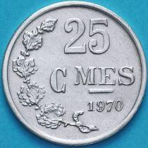 Люксембург 25 сантим 1970 год.