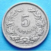Люксембург 5 сантим 1901 год.