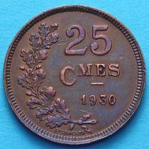 Люксембург 25 сантим 1930 год.