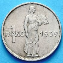 Люксембург 1 франк 1939 год.