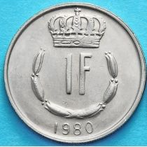 Люксембург 1 франк 1965-1984 год. Великий Герцог Жан