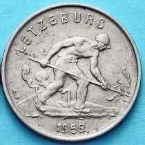 Люксембург 1 франк 1952-1964 год. Сталевар.