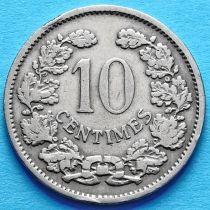 Лот 10 монет. Люксембург 10 сантим 1901 год.