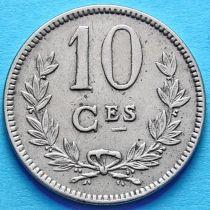 Люксембург 10 сантим 1924 год.