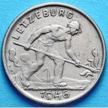 Люксембург 1 франк 1946, 1947 год. Сталевар.