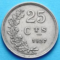 Лот 10 монет Люксембурга 25 сантим 1927 год.