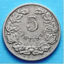 Люксембург 5 сантим 1908 год.
