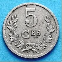 Люксембург 5 сантим 1924 год.