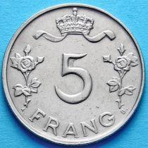 Люксембург 5 франков 1949 год.