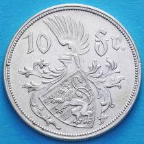 Люксембург 10 франков 1929 год. Серебро.
