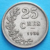 Люксембург 25 сантим 1938 год.