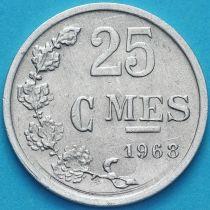 Люксембург 25 сантим 1968 год.