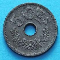 Люксембург 5 сантим 1915 год.