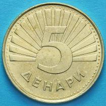 Македония 5 денаров 2014 год. Рысь.