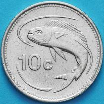 Мальта 10 центов 1986 год.