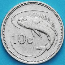 Мальта 10 центов 1991-2005 год.