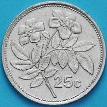 Мальта 25 центов 1986 год.
