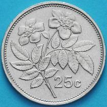 Мальта 25 центов 1991-2005 год.