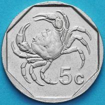 Мальта 5 центов 1991-2001 год.