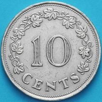 Мальта 10 центов 1972 год.