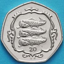 Остров Мэн 20 пенсов 1987 год. Атлантическая сельдь.