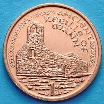 Лот 20 монет. Остров Мэн 1 пенни 2002 год.