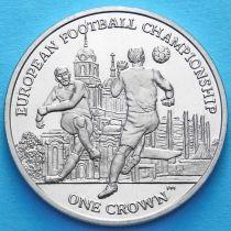 Остров Мэн 1 крона 2012 год. ЧЕ по футболу (1)