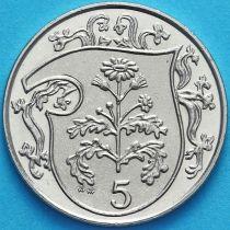 Остров Мэн 5 пенсов 1987 год.