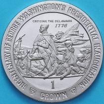 Остров Мэн 1 крона 1989 год. Джордж Вашингтон.