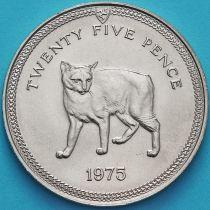Остров Мэн 25 пенсов 1975 год. Мэнская кошка.