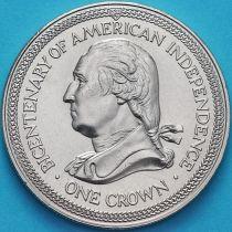 Остров Мэн 1 крона 1976 год. Джордж Вашингтон.
