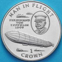 Остров Мэн 1 крона 1994 год. Фердинанд фон Цеппелин.