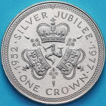 Остров Мэн 1 крона 1977 год.  25 лет правления Королевы Елизаветы II.