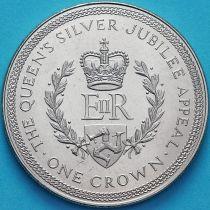 Остров Мэн 1 крона 1977 год. Серебряный юбилей