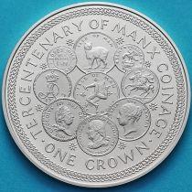 Остров Мэн 1 крона 1979 год. 300 лет монетам острова Мэн. Серебро