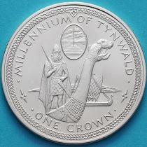 Остров Мэн 1 крона 1979 год. Драккар. Серебро