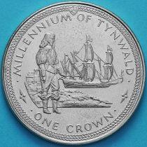 Остров Мэн 1 крона 1979 год. Ост-индский корабль.