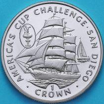 Остров Мэн 1 крона 1995 год. Кубок Америки.