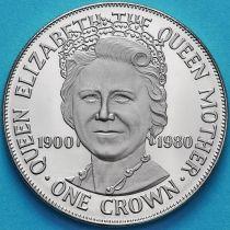 Остров Мэн 1 крона 1980 год. Королева-мать. Пруф