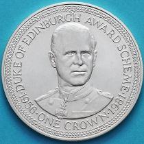 Остров Мэн 1 крона 1981 год. Премия Герцога Эдинбургского. Серебро.