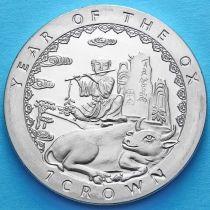 Остров Мэн 1 крона 1997 год. Год быка